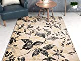 Well Woven Ilford Ivory Casual Natural Modern Floral Vintage 3x5 (3'3' x 4'7') Area Rug Thick Soft Plush Shed Free
