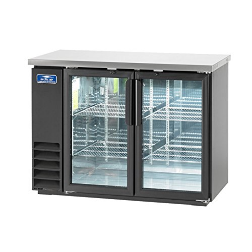 Arctic Air ABB48G 49-Inch Two Swinging Glass Doors Back Bar Refrigerator, 115v, 12.5 Cubic Feet, Black Stainless Steel
