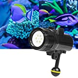 Laifeng 1500 Lumen 60m Tauchen LED Taschenlampe Helle Video-Lampe for GoPro HERO7 / 6/05.05 Session...