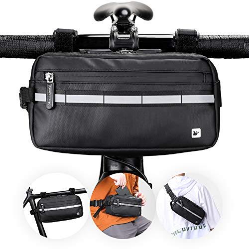 lepeiqi Fahrrad Lenkertasche Fahrradtasche Lenker Fahrradpackung wasserdichte,Für Mountainbikes, Rennräder, City Pendlerfahrräder, City Freizeitfahrräder Fahrradausrüstung