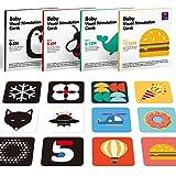 Tarjetas Flash para Bebés Juguetes Bebe 0 3 6 12 Meses, Tarjetas Negras y Blancas Doble Cara Tarjetas Flash de Alto Contraste Juguetes Bebes 1 año 2 3 años para Estimulación Visual, 80 Piezas