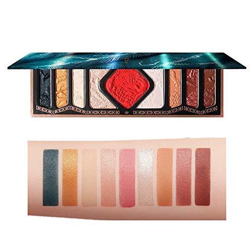 HIROCK Paleta de sombras de ojos tallada en 9 colores, rubor, reflejos,...