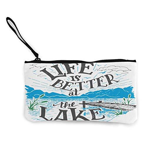 Life is Better At The Lake - Bolsa multiusos para cambiar monedas para mujer