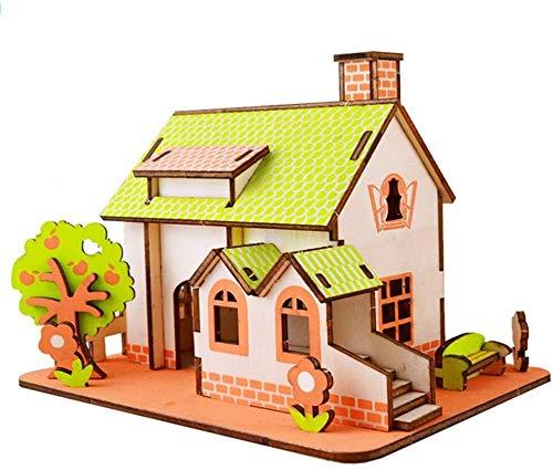 ZT Bloque de construcción, Modelo de la casa de construcción Modelo Bloque de construcción 16 + PCS Nano Mini Bloques DIY Juguetes, Puzzle 3D DIY Juguete educativo, DIY Puzzle de madera tridimensional