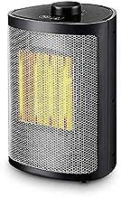 LF-YGJ 1500W Mini Ventilador del Calentador de cerámica - Oscilación automática y 2 configuraciones de Temperatura, White