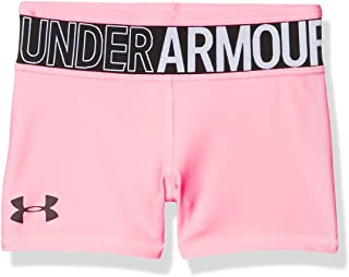 Under Armour HeatGear Armour Shorty, Pink Craze (645)/Black, Youth Large