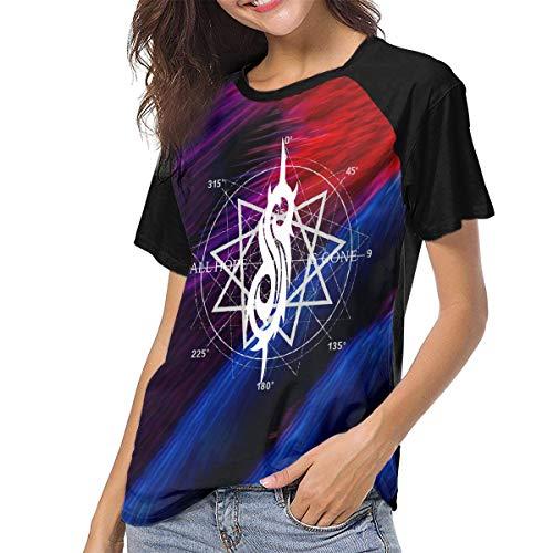 Actuallyhome Frauen Baseball Uniform mit kurzen Ärmeln T-Shirt Slipknot All Hope Star Bedrucktes T-Shirt für Erwachsene Sport Wear T-Shirts Jerseys