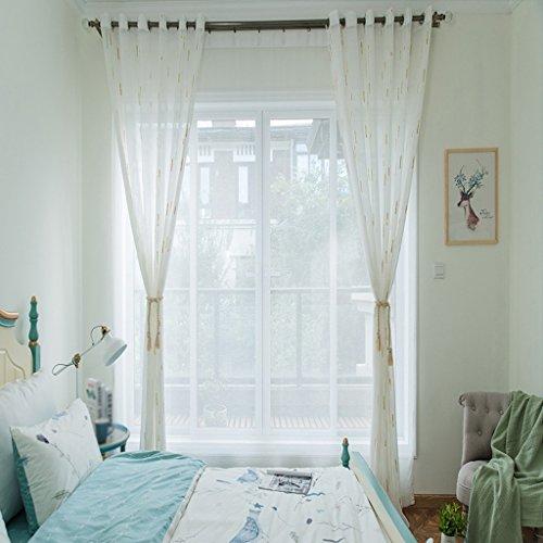 Met Love Imitation Chanvre Couleur Vertical Spot Fil Fenêtre Crible Salon Chambre Étude Spécial Balcon Rideau Fil 2 panneaux (taille : L:2.5*H:2.7m)
