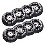 Iycorish Lot de 8 roues de roller en ligne pour débutants 70 mm