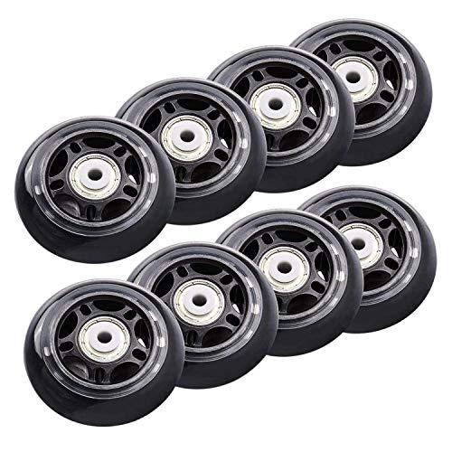 Iycorish 8 Stück Inline-Skate-Räder für Anfänger, Ersatzrollen mit Kugellagern, Rollen 70 mm