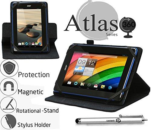 Navitech 7 Zoll schwarzes Case / Cover mit 360 Rotierbare Stand Funktion und Stylus Stift für das Asus Fonepad 7 (FE170CG) / ASUS Fonepad 7 ME372CL / ASUS Fonepad 7 (FE170CG) / ASUS Fonepad 7 Dual SIM (ME175CG) / ASUS Fonepad 7 (FE375CG) / ASUS Fonepad 7 (ME372CG)