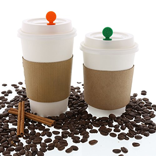 StixToGo Black Circle Beverage Plug for Disposable Lids, Package of 400