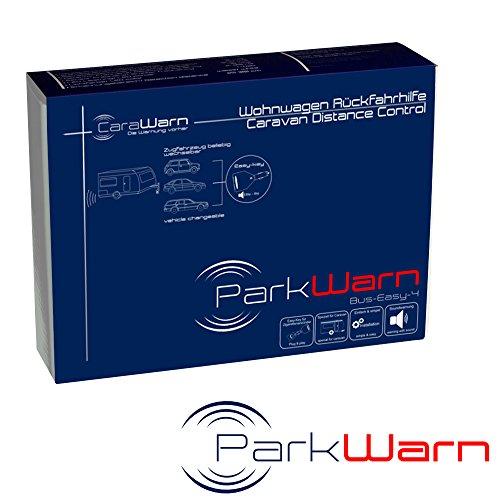 Rückfahrwarner + Einparkhilfe für große Anhänger und Wohnwagen, ParkWarn Bus-Easy-4, Schnellinstallation dank Easy Key für den Zigarettenanzünder, neuste CANBus-Technik