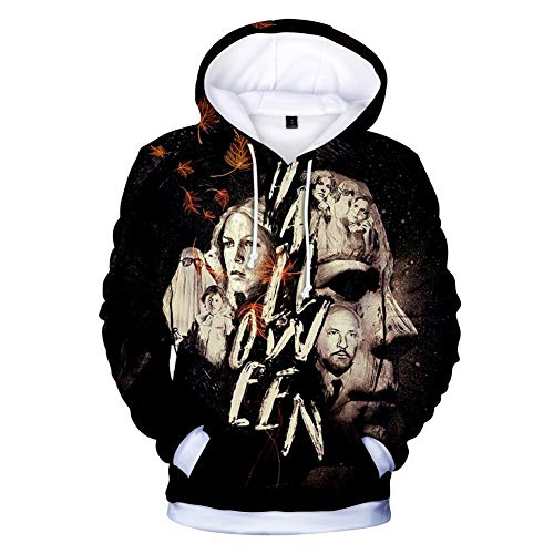OOHAY Unisex Fashion 3D Hoodies Bedruckter Hoodie Pullover Grafische Sweatshirts Mit Kapuze und großen Taschen-Michael-Myers-Halloween