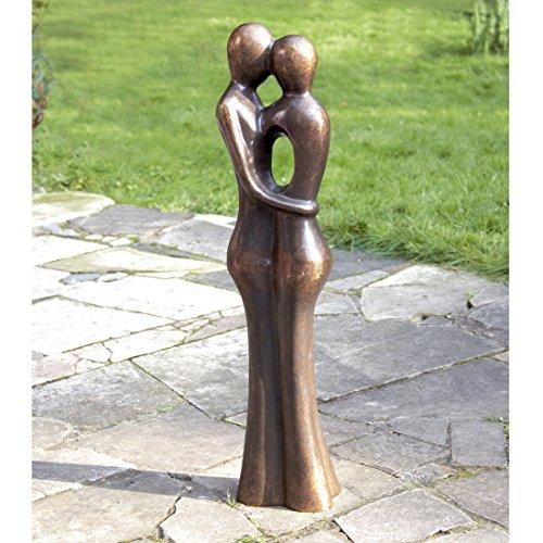 Bronzestatue: Abstraktes Liebespaar 34 cm,