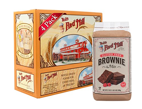 Bob's Red Mill Gluten Free Brownie Mix, 21 Oz (4 Pack)