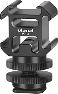 Ulanzi Aluminium Triple Cold Shoe Camera Mount Adapter Video Accessory Triple Shoe Bracket Lights, LED Monitors, Microphon...