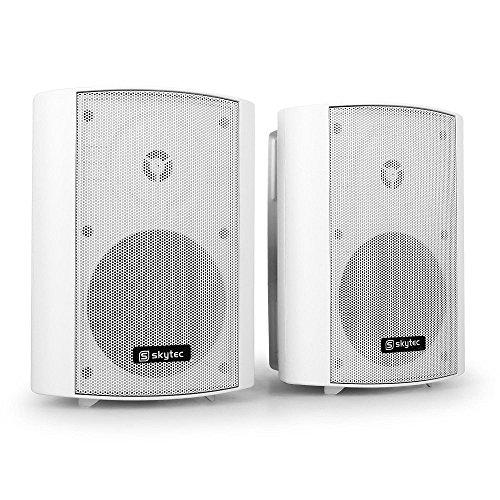 Skytec 100.020 - Lautsprecher (2-Wege, 2.0 Kanäle, Verkabelt, 100 W, 70-20000 Hz, Weiß)