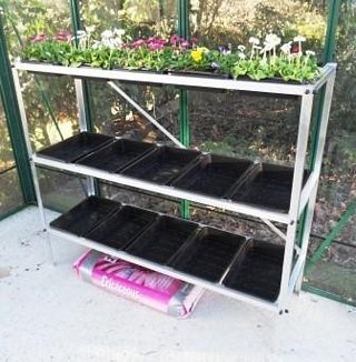 Tibshelf Garden Products Ltd Greenhouse Staging | Seed Tray Unit x 3 Tiers | Maxi