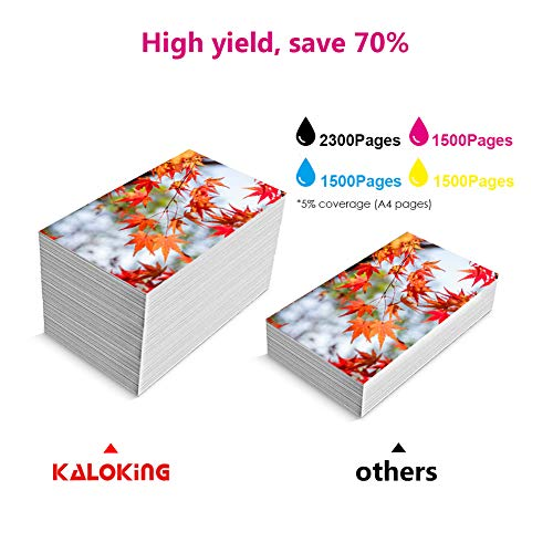 Kaloking Compatible Ink Cartridge Replacement for HP 950 951 XL 950XL 951XL Ink Cartridges for use with HP OfficeJet Pro 8600 8610 8620 8100 8630 8660 8615 8625 276DW 251DW 271DW 5 Pack Photo #5