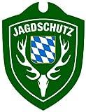 Waidmannsbruecke Unisex– Erwachsene Jagdschutz Bayern Autoschild, Grün, One Size