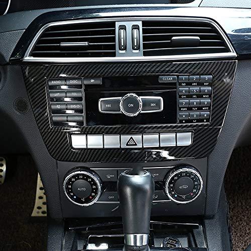 Marco de salida de aire para interior de coche de ABS plateado mate para MB Benz GLK Class X204 2008-2012 de DIYUCAR