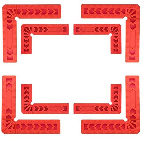SSyang 8 Piezas Regla de ángulo de 90 grados Plástico Tipo L Abrazaderas de ángulo recto Carpintería Herramienta de carpintero Escuadra de sujeción de esquinas para Cajas,Gabinetes O cajones(3'/4')