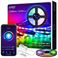 Smart LED Strip Lights Gosund Smart Tape Light Works with Alexa Google Home16.4ft, APP Control, Sync with Music, 5050 RGB Color Changing Lights for Bedroom, TV, Kitchen, Bar, Party (1pcs)