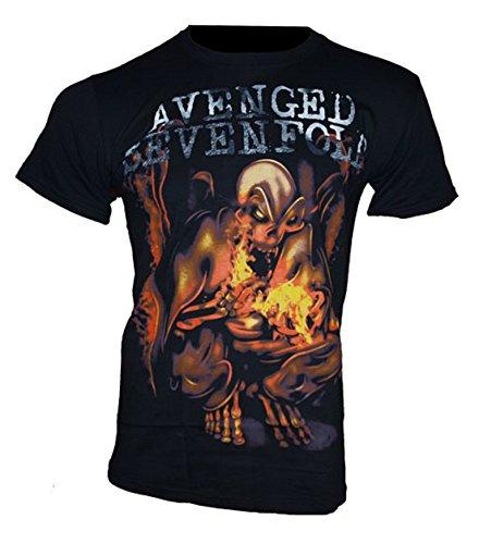 Avenged Sevenfold Homme T-Shirt Ruban – Fire Bat Medium Noir