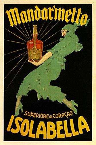 "Fashion Lady Mandarinetto Isolabella Liquor Italy Italia Italian Drink Vintage Poster Repro 20"" X 30"" Image Size. We Have Other Sizes Available!"