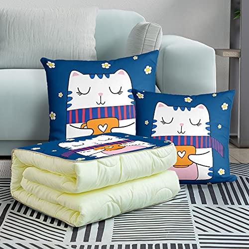 MRBJC Almohadas cómodas y suaves cojines de pelusa holandeses decorativos cuadrados para decoración del hogar, dormitorio, sala de estar, se puede utilizar como colcha de 45 x 45 (115 x 155 cm)