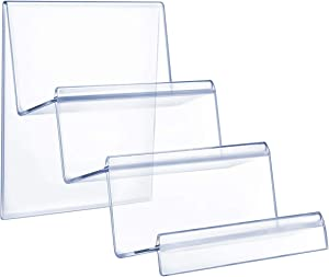 TOPBATHY 1 Pc 3-Tier Acrylic Riser Display Shelf Wallet Display Stand Holder Jewelry Display Riser Shelf for Display or Collection
