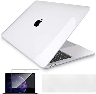 Mektron MacBook Pro 13 inch Case 206-2019 A2159/A1989/A1706/A1708, Crystal Clear Hard Shell w/Keyboard Cover & Screen Protector for Mac 13.3 Pro Touch bar & Touch ID