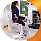 ExerSeat - Compact Hands Free Stationary Exercise Bike is Easy and Fun to Use.