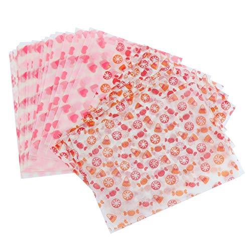 TsunNee Twisting papel encerado, envoltorios impermeables para caramelos, papel de regalo para manualidades, chocolate, caramelo, piruleta, 4.7 x 3.5 pulgadas Model 4