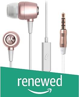 (Renewed) Motorola Metal Headphones (Rose Gold)