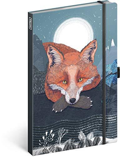 Notizbuch mit Gummiband liniert - Notizblock für Frauen und Mädchen - Tagebuch Journal Notebook für Schule und Arbeit (Animalium)