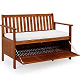 Deuba Wooden Garden Bench 2 Seater With Storage Chest