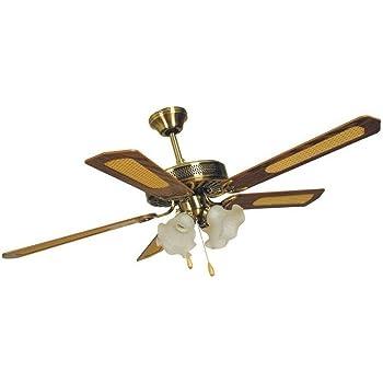 72073 Ventilatore da soffitto in nichel spazzolato per