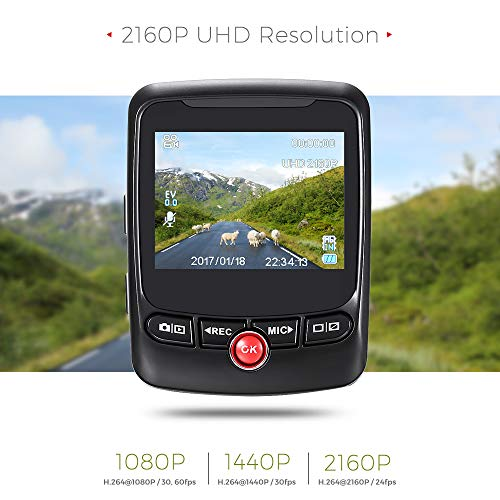 SDRFSWE Auto DVR GPS Logger Auto dashcam 170 graden 2160 P UHD G-sensor camera autorijden videorecorder