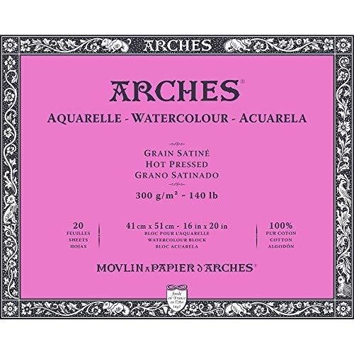 Arches 1711606Acuarela Papel, malkarton, papel, color blanco, 41x 51cm