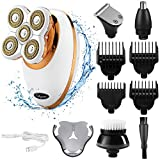 Electric Shaver Razor for Men and Women,Glynee 5 in 1 Waterproof Painless Head Leg Facial Beard Hair Remover Trimmer Grooming kit for Face Body Lips Arm Underarms Armpit 5 Floating Head Fast
