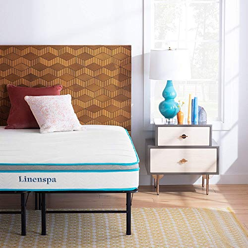 Linenspa 12 Inch Memory Hybrid Plush-Individually Encased Coils-Edge Support-Quilted Foam Cover Mattress, Twin XL, White