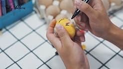 SallyFashion 15 PCS White Wooden Eggs Easter Eggs Fake Eggs for Children DIY Game,Kitchen Craft Adornment,Toy Foods