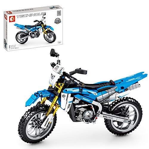 ZCXX Juego de construcción de 799 piezas Custom Motorcycle Set de ingeniería de carreras Moto Off Road Motorbike compatible con Lego Technic