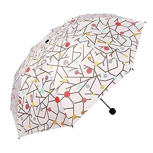 HYX Mini-Regenschirme, Winddichte, kompakte Taschenschirme mit rutschfestem, gummiertem Griff, für Geschäfts- und Urlaubsreisen oder Hochzeitsgeschenke im Sommer