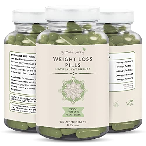 Natural Weight Loss Pills for Women - Diet Pills That Work Fast  Appetite Suppressant & Carb Blocker Supplement  Thermogenic Belly Fat Burner with Garcinia Cambogia  Green Tea Extract -90 Veg Capsules
