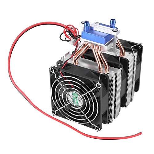 Ventilador de enfriamiento de alto rendimiento 1 PC refrigerador termoeléctrico Semiconductor Refrigeración Peltier del refrigerador refrigerado por aire del radiador refrigerador de agua de refrigera