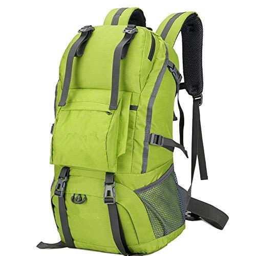 Le compartiment principal permet de ranger tous vo Para acampar Caza Viajes y deportes al aire libre 50L Impermeable Mochila de alpinismo de nylon Mochila de alpinismo Mochila de senderismo ligera Paq