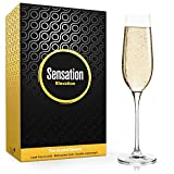 Season STORY Champagne Flutes Set of 2 Crystal Glass Flute - 8oz Holiday Champaign Glasses, Wedding...